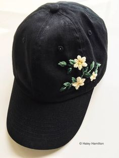 4e232caad101c Floral Cap Embroidered Dad Hat Hand Embroidery Embroidered Caps