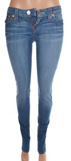 True Religion Womens Skinny Jeans Size 30 Flap Pockets Azalea, Kingdom Love NWT #TrueReligion #SlimSkinny