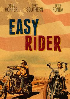 Jack Nicholson - Movie poster - Illustration art - Easy Rider by Dennis Hopper Biker Movies, Cult Movies, Film Gif, Film Serie, Classic Movie Posters, Movie Poster Art, Love Movie, I Movie, Dennis Hopper Easy Rider