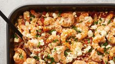 This baked shrimp and pasta dinner is proof that simple doesn't have to mean boring. Creamy orzo, feta and cooked-to-perfection shrimp are the stars of this Mediterranean-inspired dinner that's begging to be part of your weeknight lineup.