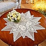 necessary cotton and plan to make the christmas center in star shape to uni . Crochet Doily Patterns, Crochet Chart, Thread Crochet, Filet Crochet, Crochet Motif, Crochet Doilies, Yarn Crafts, Diy And Crafts, Crochet Freetress