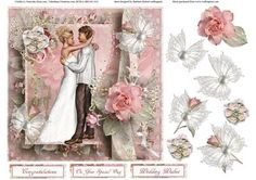 Couple in Love Topper with Decoupage on Craftsuprint - Add To Basket!