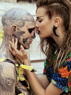 Rick Genest. I love and admire this man.