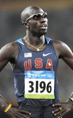 Lopez Lomong, 2008 US Olympic track and field team member!