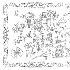 Enchanted Forest An Inky Quest Coloring Book Johanna Basford BooksColoring SheetsAdult ColoringColoring PagesColouringJohanna