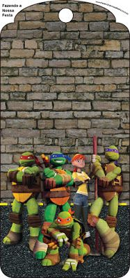 Tartarugas Ninjas – Mini Kit com molduras para convites, rótulos para guloseimas, lembrancinhas,imagens!  Fazendo a Nossa Festa