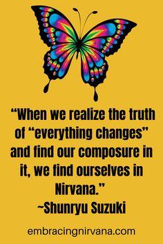 32 Mindful Zen Quotes by Shunryu Suzuki #zenquotes #nirvana #shunryu #suzuki #embracingnirvana #RGRamsey Buddhist Teachings, Buddhism, Soto Zen, Zen Quotes, Buddha Zen, Tokyo Japan, Nirvana, Mystic, Philosophy