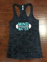 a9051e50 Mind Over Matter Gym Tank Top Burnout by sunsetsigndesigns on Etsy