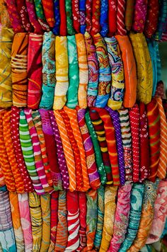 Pick a sari, any sari.  by B.Bubble, via Flickr
