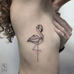 Flamingo Tattoo :D Trendy Tattoos, Mini Tattoos, Sexy Tattoos, Small Tattoos, Tatoos, Origami Tattoo, Bird Tattoos For Women, Tattoos For Guys, Flamingo Tattoo