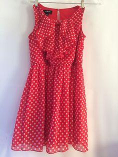 Amy Byer Polka Dot Dress With Ruffle Front, Sleeveless, Girls 12    eBay