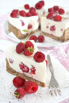 Cheesecake al mascarpone e lamponi | Zonzolando