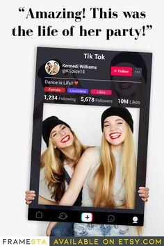 Tik Tok Party Photo Booth Frame TikTok Birthday Party Photo | Etsy