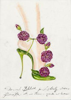 Sketch by Manolo Blahnik