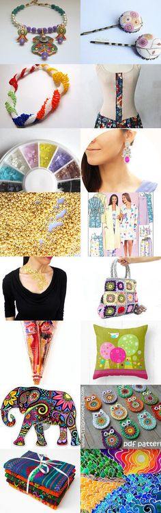 Colorful ***** by Sara Olivé on Etsy--Pinned with TreasuryPin.com