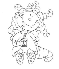 free quirky monsters digi stamps | Posted by Mary Ellen Smith at 11:06 AM