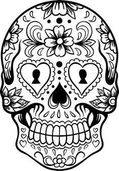 Sugar Skull Version 6 Wall Vinyl Decal Sticker Art by DabbleDown