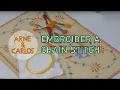 How to embroider a chain stitch by ARNE & CARLOS – ARNE & CARLOS #embroidery #freepattern #arnecarlos