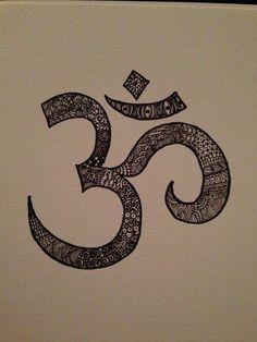 Sharpie zentangle of an om symbol. #zendoodle #zentangle #sharpieart #diy #art #sharpie #om #breathe #yoga #yogi