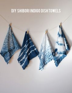 indigo dye dish towel tutorial on aliceandlois.com