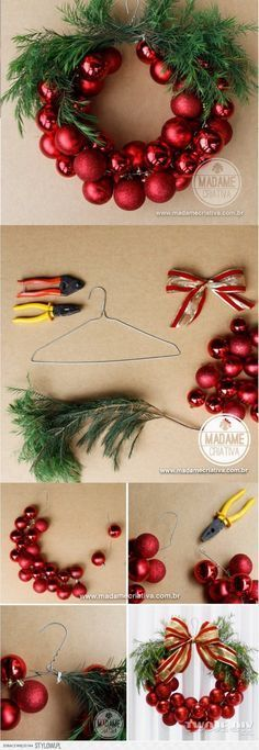 Happy New Year 2019 : Bo?e Narodzenie na Stylowi.pl Mehr (Diy Christmas Wreath) The post Happy New Year 2019 : Bo?e Narodzenie na Stylowi.pl Mehr (Diy Christmas Wreath) & appeared first on Dekoration. Christmas Projects, Holiday Crafts, Xmas Wreaths, Christmas Wreaths In Windows, Noel Christmas, Funny Christmas, Christmas Balls, Buffalo Plaid Christmas Ornaments, Christmas Ornament Wreath