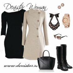 Denistar black dress - 300/609 Fashionable fall and winter women outfit