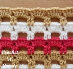 Crochet Boxed Block Stitch Tutorial Free Crochet Tutorial Lattice-Bar Stitch – Crochet 'n' Create The Effective Pictures We Offer You About Crochet accessories A quality. Crochet Stitches For Blankets, Crochet Stitches Free, Crochet Stitches For Beginners, Afghan Crochet Patterns, Baby Blanket Crochet, Free Crochet, Stitch Patterns, Knitting Patterns, Dishcloth Crochet