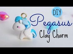 DIY Pegasus polymer clay charm tutorial