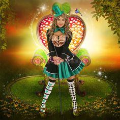 Halloween Mad Hatter Womens Costume