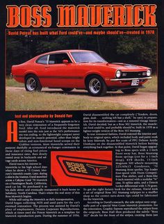 Love Mavericks - my first car was a red Maverick - I remember it well! Car Ford, Ford Trucks, Bicicletas Raleigh, Ford Classic Cars, Classic Mustang, Ford Maverick, Car Advertising, Us Cars, Classic Hot Rod
