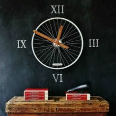 bicycle wheel clock, chalkboard paint, crafts, repurposing upcycling, Step 1 Purchase a kit from any craft store specifically designed to power big hands