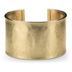 Blue Nile Wide Hammered Cuff Bracelet ($2,495) ❤ liked on Polyvore featuring jewelry, bracelets, accessories, gold, pulseiras, 14k bangle, hammered cuff bracelet, 14 karat gold bangles, cuff bangle and wide cuff bracelet