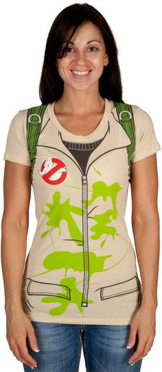 Ladies Ghostbusters Costume Shirt                                                                                                                                                                                 More