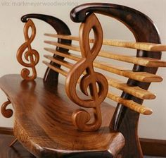 Whimsical Furniture & Conversation Pieces! Treble Clef Bench. | Follow rickysturn/home-styling