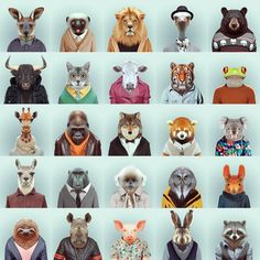 Love these zoo portraits by Yago Partal . You can purchase them as prints or cards on his website: Zoo Portraits by Yago Partal. Inspiration Artistique, Foto Fun, Gcse Art, Animal Heads, Art For Art Sake, Art Plastique, Pet Portraits, Animal Photography, Collage Art