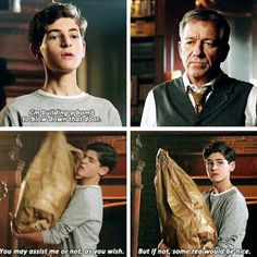 """""""I'm building a bomb to blow down that door"""" - Bruce and Alfred #Gotham . Can't be any cuter than this >_<"""