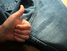 The DIY Tailor: An Easy Way to Fix Holes in Your Jeans and Other Garments