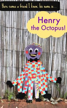 Stick the clothes on Henry the Octopus! Cute idea for a Wiggles craft activity that kids can do together. ~ Danya Banya