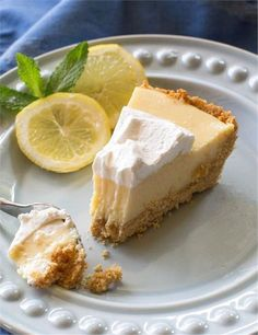 This Lemon Pie is light, sweet and tart lemon pie with a thick graham cracker crust. The famous Magnolia Lemon Pie by Joanna Gaines. I think I might have been the last person in this world to watch th Easy Lemon Pie, Lemon Pie Recipe, Lemon Recipes, Pie Recipes, Dessert Recipes, Retro Recipes, Recipies, Lemon Desserts, Easy Desserts
