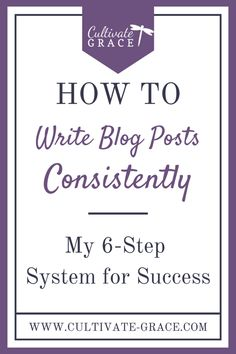 If you're a blogger and anything like me, there's ONE thing you struggle with more than anything else:  posting consistently. A few weeks ago, I started using a new structure for writing my blog posts. And it works! Typically, I am 1-2 weeks ahead on posts AND I have my social media and email content written ahead of time. Click to read more...