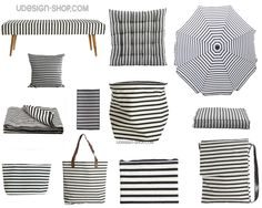 STRIPE FAMILY  Laundry bag, umbrella, shopper bag, throw, bench, doormat, pillowcase, cushion  #textile #decor #lifestyle #housedoctor  More info: http://www.udesignshop.com/index.php/brands/house-doctor-udesignshop.html