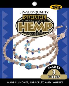 Hemp Jewelry Kits-Dolphin - Hemp Jewelry Kits-Dolphin. TONER-Hemp Jewelry Kit. This hemp kit makes three pieces: a choker; bracelet and an anklet. This package contains hemp; beads and detailed instructions. Available in a variety of styles: shape; size; color and number of beads Sold Individually  Please note: If there is a color/size/type option the option closest to the image will be shipped (Or you may receive a random color/size/type).