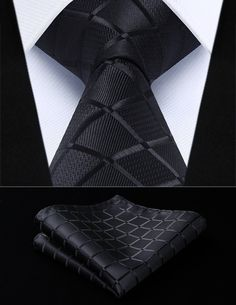 Classic Black Square - w/ Pocket Squares