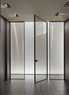 Küchen Design, Glass Design, Door Design, Pivot Doors, Internal Doors, Door Dividers, Modern Villa Design, Lobby Interior, House Doors
