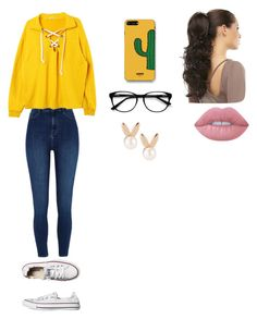 """""""Untitled #80"""" by cupcake990 on Polyvore featuring Converse, River Island, WithChic, Lime Crime, Aamaya by Priyanka and EyeBuyDirect.com"""