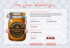 Hier wird eine Möglichkeit der kostenlosen Gestaltung von Etiketten zum Beipsiel für Marmelade vorgestellt.