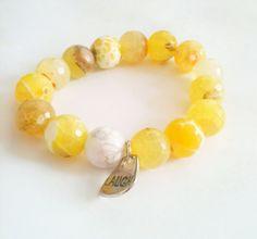 Agate bracelet/strechy bracelet/elastic bracelet by MsSOFIA