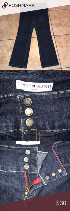 Tommy Hilfiger Jeans wide waist hipster boot 8 Tommy Hilfiger Jeans wide waist hipster boot 8  inseam 32 inches Tommy Hilfiger Jeans Boot Cut