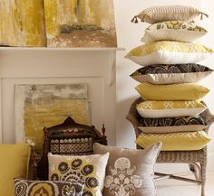 Lacefield Designs Lemongrass Pillows And Art #pilllow #interior_design  #design #trends [www