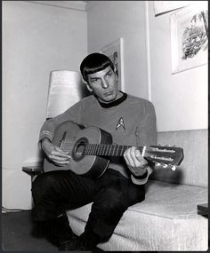 just awesome - Leonard Nimoy Playing Guitar and he's a photographer, writer, performs short stories, I think he paints, too, but don't quote me on that.